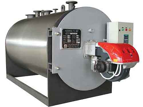Oil/gas fired hot water boiler