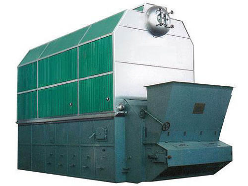Biomass fired hot water boiler