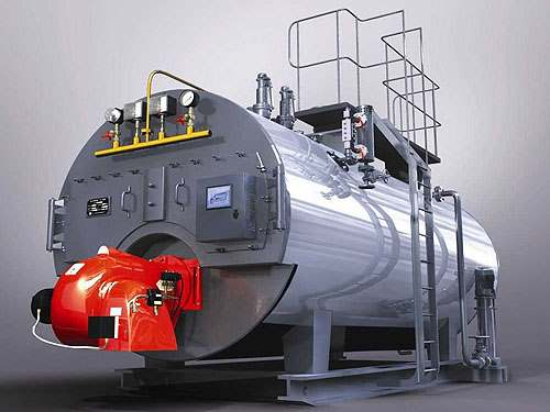 Oil/gas fired steam boiler